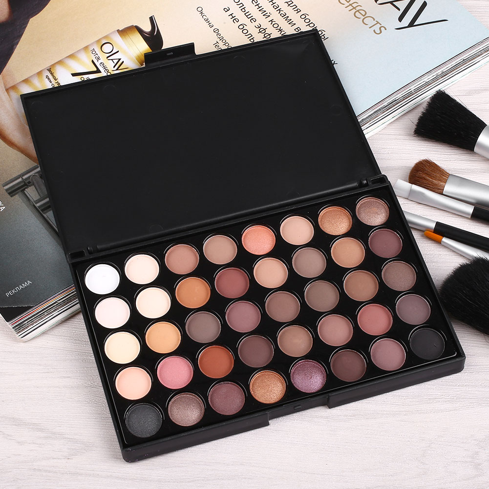 40 couleurs palette fard ombre paupi res mat glitter eyeshadow maquillage. Black Bedroom Furniture Sets. Home Design Ideas